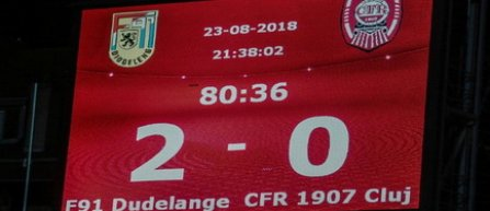 Europa League - play-off - tur: F91 Dudelange - CFR Cluj 2-0
