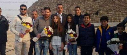 Messi a vizitat piramidele de la Gizeh
