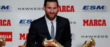 Lionel Messi a câştigat pentru a cincea oară trofeul Gheata de Aur