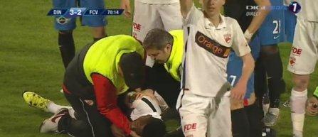 Camerunezul Ekeng de la Dinamo, transportat inconstient la spital cu ambulanta