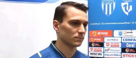 VIDEO Dominik Glavina: Sunt foarte fericit că am semnat cu Universitatea Craiova