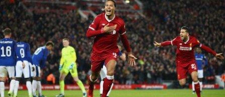 Van Dijk, cel mai scump fundaş din lume, a adus calificarea echipei Liverpool în 16-imile Cupei Angliei