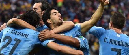 Luis Suárez şi Cavani în fruntea lotului Uruguayului pentru CM 2018