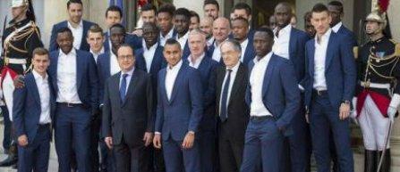 """Les Bleus"" au luat masa cu presedintele Francois Hollande"