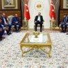 Erdogan a primit vineri la palatul prezidential personalitati artistice si din sport, intre care si Fatih Terim si Arda Turan