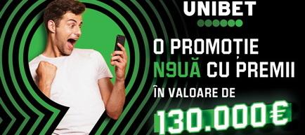 Ploaie de premii la Unibet în aprilie și mai - recompense extra în valoare totală de 150.000 euro